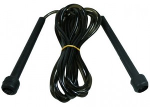 Speed rope Springtouw Nylon kabel met harde handvatten