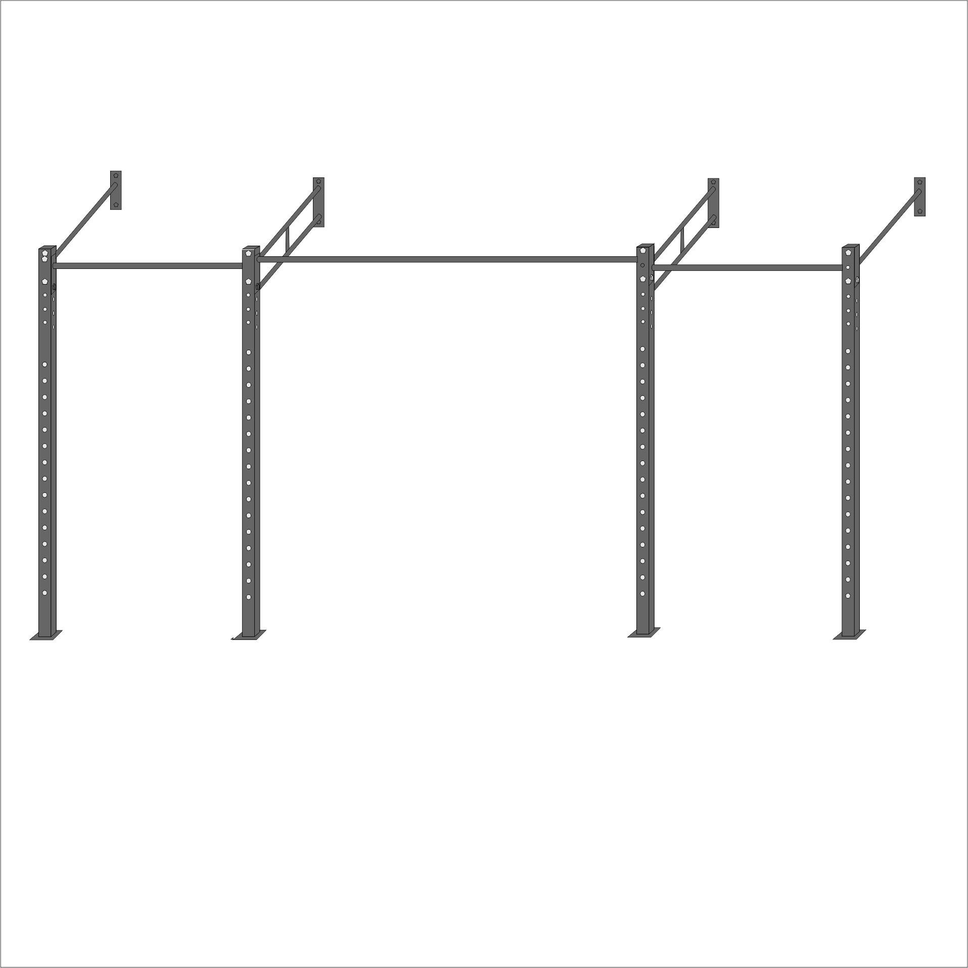 Wallmount Crossfit rek MXL 2L