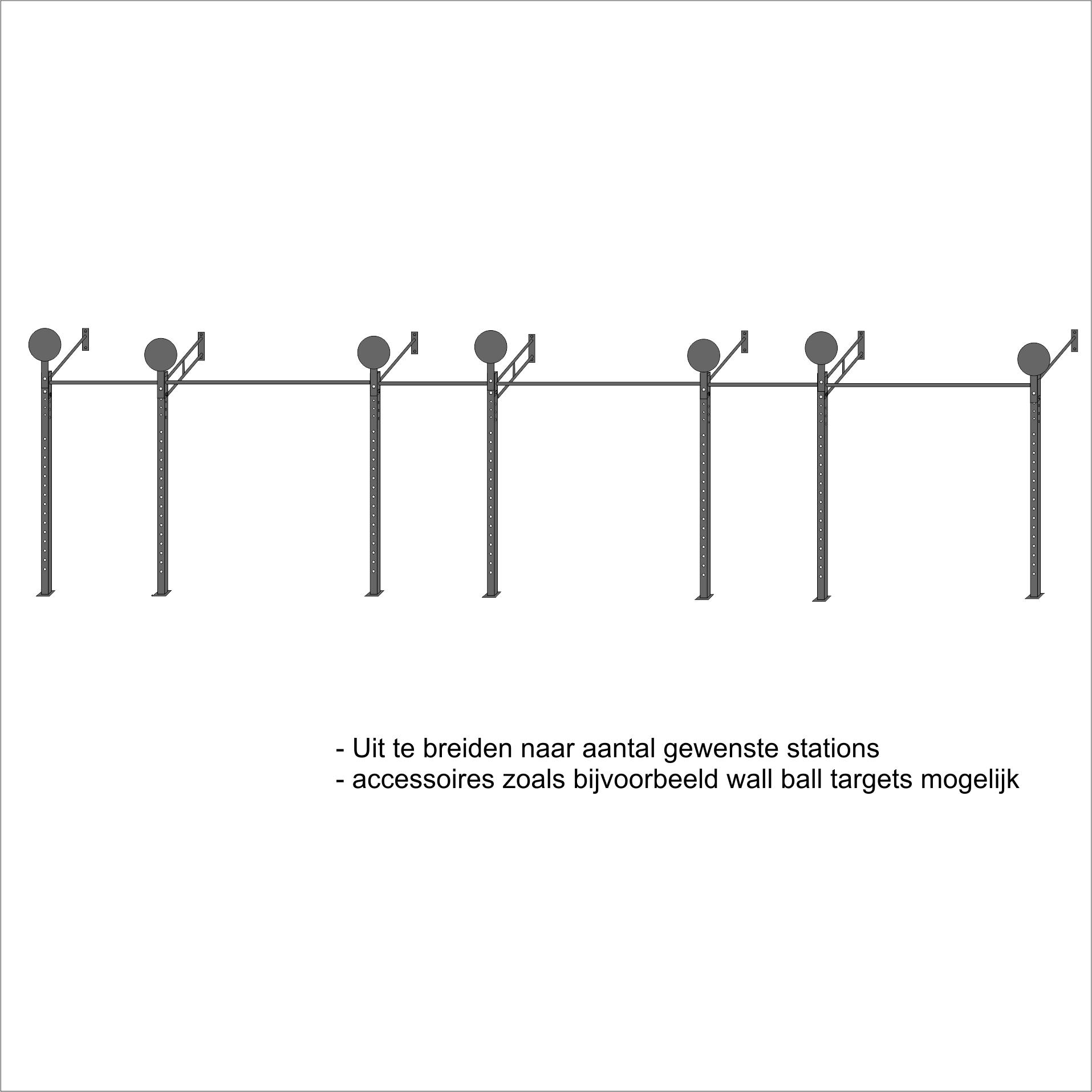 wallmount MXL 2L uitbreiding mogelijkheden